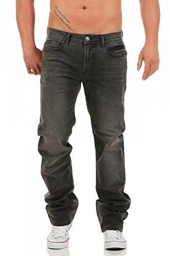 BIG SEVEN - DAN - CHICAGO WASH - Regular Fit - Übergrösse XXL - Herren Jeans Hose, Hosengröße:W38/L32 (Geprägte Jeans Elasthan)