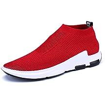 best loved 2d784 2b702 Homme Chaussure de Sport Outdoor sans Lacet Sneaker de Basket Mode  Chaussure de Course Running Casuel