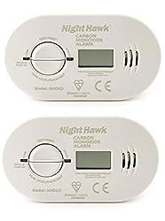Kidde 5DCO batteriebetriebener Kohlenmonoxid-Alarmgeber mit digitaler Anzeige, 2 Stück