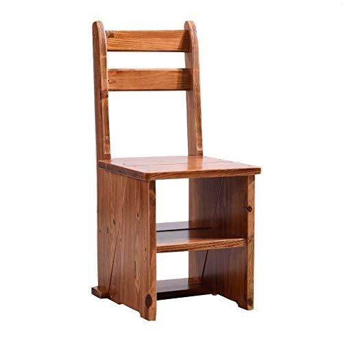 TZ-DZC Trittleiter Stehleitern Klappleiter Hocker Treppen Home Multifunktions Bücherregal Wohnzimmer Regal 4 Schritte Hocker (Color : Holzfarbe) | Baumarkt > Leitern und Treppen | TZ-DZC