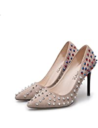 Zapatos de mujer Punto estilo Light-Rivet, Beige 35