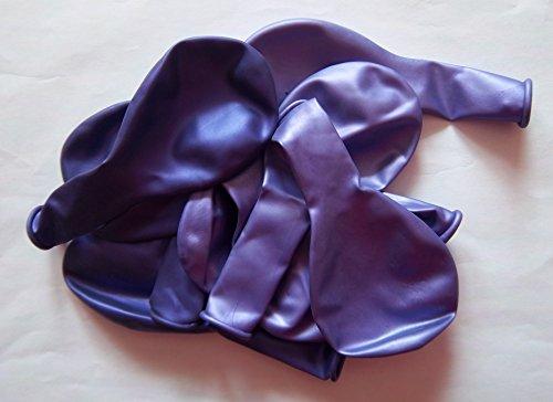 (50 Luft-Ballons-lila-violett metallic-glänzend-metall-Feier-Deco-Geburtstag-Fete-Helium-geeignet EU Ware vom Sachsen Versand)