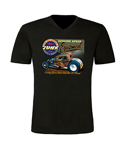 Hot Rod High Performance Herren T-Shirt mit V-Ausschnitt (2XL) (T-shirt Performance Groß Und Hoch)