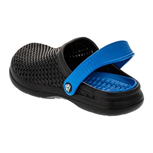 2surf Clogs Damen Herren Gartenschuhe Freizeit Pantoffel Latschen in Vielen Farben M316swbl Schwarzblau