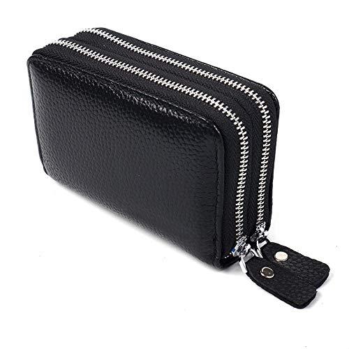 TOMYEER Damen Elegant Vintage Leder Kleines Portemonnaie Kompatibel Bundle
