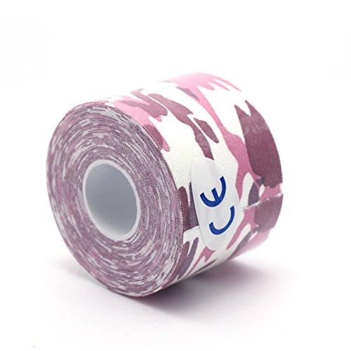 Elastische Baumwolle, mit Klebstoff, Sport-Schutz, Muskel-Tape Druck mit Erste-Hilfe Bandage für Kinesiologie Tape, Color 19, Tape Length: Approx 5M/197 inch