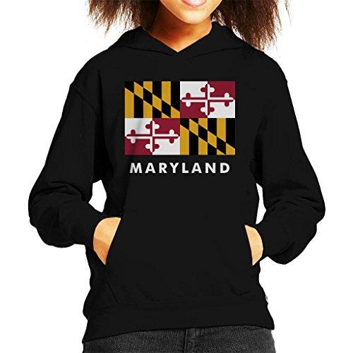Coto7 Maryland State Flag Kid's Hooded Sweatshirt