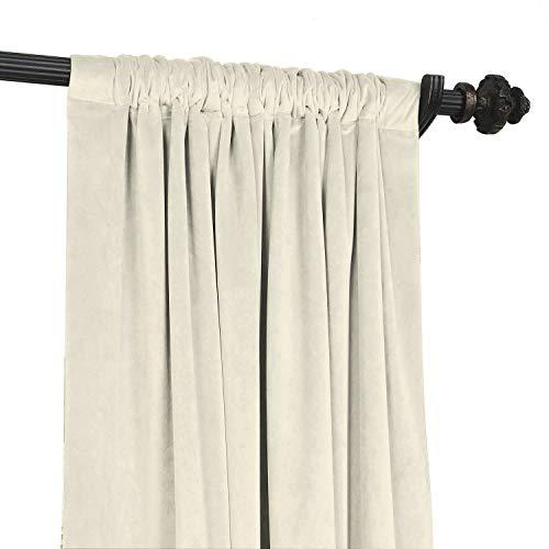 ChadMade Solid Matt Luxury Schwergewicht Velvet Vorhang Drape mit Blackout Thermal Lining Rod Pocket Everglade Beige 127B x 305H cm (1 Panel)