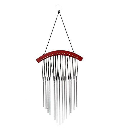 Kingken Fantaisie Décoration Murale à Suspendre 15 Tubes Carillon Pendentif Vent Bell Cour Jardin Décoration de la Maison, comme sur L'image, Arc Shaped