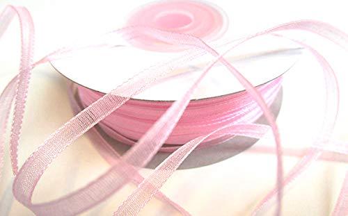 CaPiSo® 100 m Organza Chiffon 3 mm breit mit Webkante (Rosa)