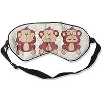 Cute Monkey See No Evil 99% Eyeshade Blinders Sleeping Eye Patch Eye Mask Blindfold For Travel Insomnia Meditation preisvergleich bei billige-tabletten.eu