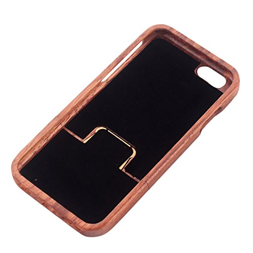 Coque iPhone 7 Anti Choc Case en Bois Naturel Forepin® Réel Etui Couvert et Housse en Wood Dur dans Motif de Sculpté élégante Protecteur pour iPhone 7,4.7 inch (Lion) Bête