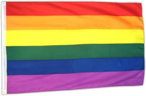 Flaggenking 17089 Regenbogen Gay-Flagge/Fahne, Wetterfest, Mehrfarbig, 150x90x1 cm