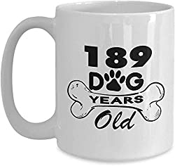 VTYOSQ Coffee Mug, Funny Coffee Mug Gift Dog 189 Dog Love Years Old for Dog Lovers 27 Year Old Birthday Ideas for Wife 27th Birthday for Girlfriend,Her,Women,Guys,Daughter,Sister for Birthday