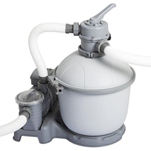 Bestway Flowclear Pompa Filtro a Sabbia 5.678L/H Filtro a Sabbia, Grigio, 45x 65x 50cm