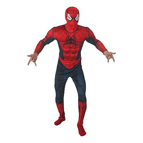Rubie's Ultimate Spiderman Deluxe Herren Kostüm Overall mit Haube Gr.STD