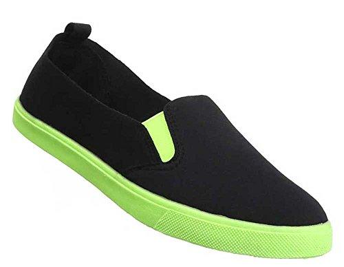 Damen-Schuhe Slipper | stilvolle Halbschuhe in verschiedenen Farben und Größen | Schuhcity24 | Freizeitschuhe Slip-On Schwarz