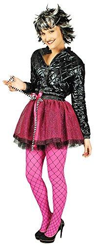 Punk Glitzer Petticoat Rock Annabelle für Damen - Gr. 40 - Punk Rocker Kostüm Für Erwachsene