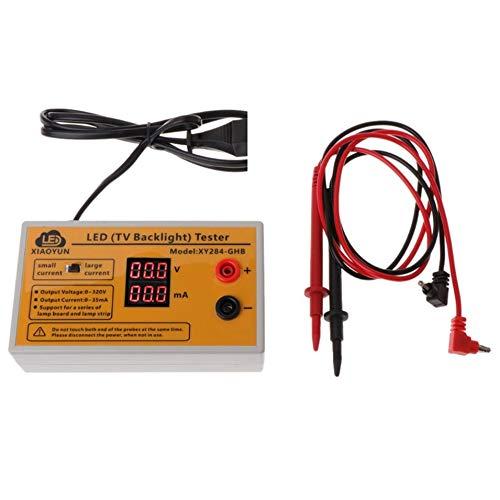 HermosaUKnight Professionelle 0-320V Ausgangs-LED-Hintergrundbeleuchtung Tester Spannungsanzeige XY284-GHB-Gelb