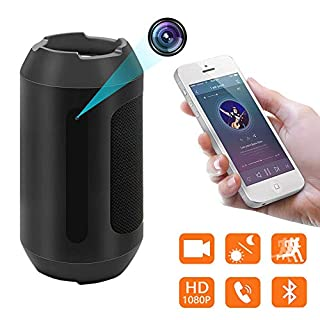Bluetooth Speaker Hidden Camera,1080P Spy Camera Motion Detection Security Video Recorder Wireless Mini Nanny Camera With Night Vision