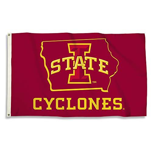Iowa State Applique (BSI NCAA Iowa State Cyclones Iowa State Cyclones 7,6 cm x 12,7 cm. Fahne/Grommetsiowa State Cyclones 7,6 cm x 12,7 cm. Fahne/Tüllen, Mehrfarbig, Nicht zutreffend)