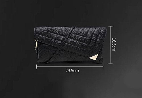 Handtasche, Leder Mode Handtasche, große Kapazität Abendessen Paket, Bankett-Paket ( Farbe : Grau ) Schwarz