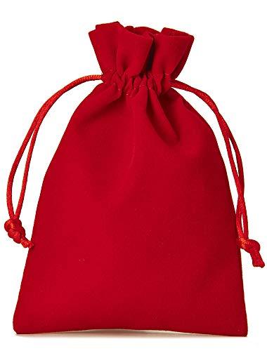 12 bolsitas de terciopelo con cordón para cerrar