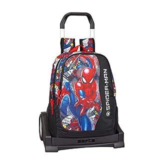 Spiderman «Super Hero» Oficial Mochila Espalda Ergonómica Con Carro Safta Evolution