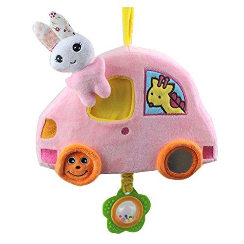 Preisvergleich Produktbild Baby Handglocke Plüsch Rassel Spielzeug Infant Musical Entwicklung Spielzeug zum Aufhängen für Kinderbett, Kinderwagen, Stuhl, Auto