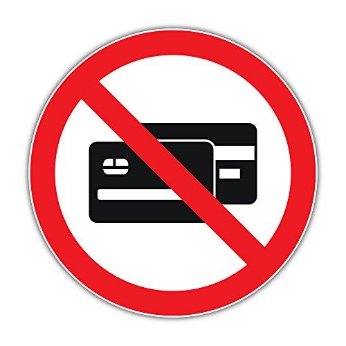 Only Cash Prohibition Ban Stop Sign Bumper Sticker Vinyl Art Decal for Car Truck Van Window Bike Laptop -