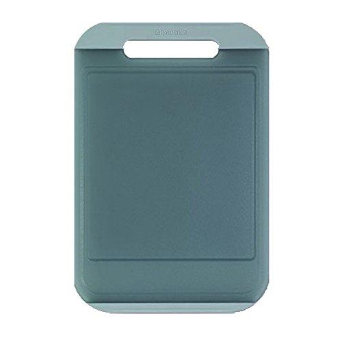 Brabantia linea tasty colours tagliere large, 37 x 25 x 1 cm, con finiture anti-scivolo in silicone, verde menta