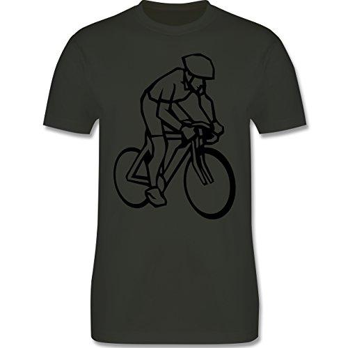 Radsport - Radsport - Herren Premium T-Shirt Army Grün