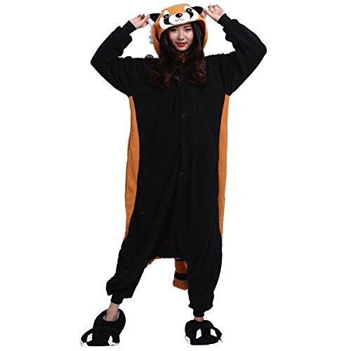 it Schlafanzug Tier Onesies Sleepsuit mit Kapuze Erwachsene Unisex Overall Halloween Kostüm Jumpsuit (Halloween Kostüme Erwachsene Onesies)