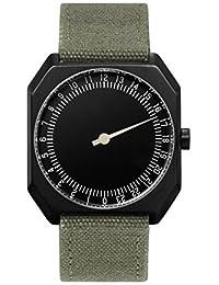 Slow Jo 15 Montre bracelet Mixte, Tissu, couleur: Vert