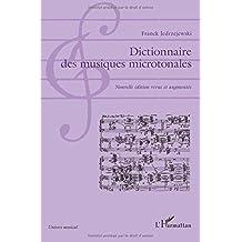 Dictionnaire des musiques microtonales