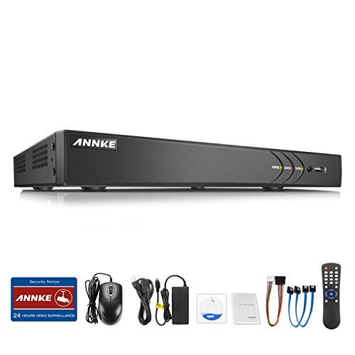 ANNKE CCTV TVI DVR Recorder Videoüberwachung 16CH 3.0MP Netzwerk Digital Video Recorder H.264 für Videoüberwachung Aufzeichnungsgerät Bewegungserkennung Fernüberwachung ohne Festplatte