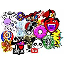 Elton 3M Vinyl Sticker Pack [20-Pcs], Lovely 3M Vinyl Skull & Assorted Stickers For Laptop, Cars, Motorcycle, PS4. X Box One . Guitar Bicycle, Skateboard, Luggage - Waterproof Random Sticker Pack
