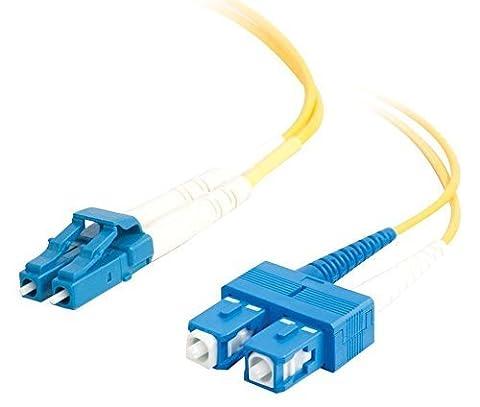 C2G 85592, LC/SC Duplex OS1), 15 m, Single Mode Fiber