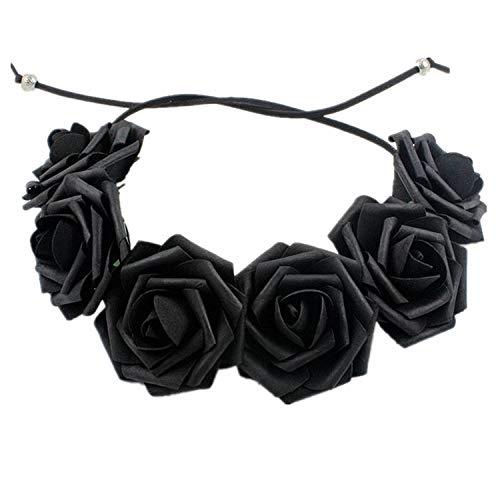 arschmuck Fashion Party Kranz Halloween Kopfbedeckung Schaum Rose Haarband A ()