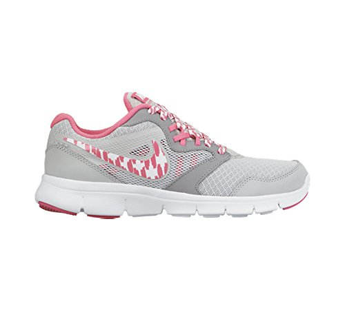 Nike Flex Experience 3 Gg, Chaussures de running fille Multicolore - Plateado / Blanco / Rosa / Gris (Pr Pltnm / White-Pnk Pw-Wlf Gry)