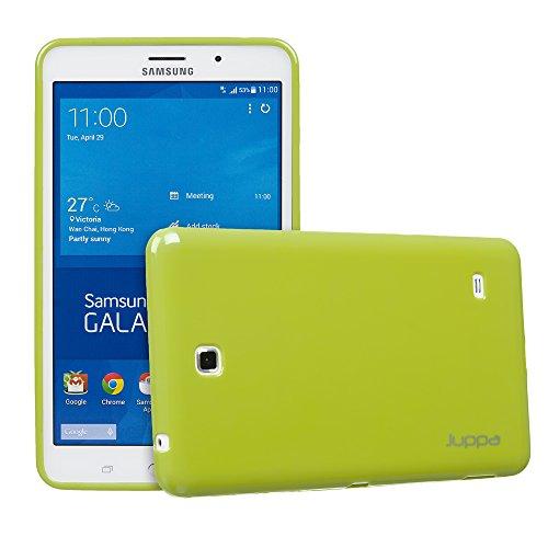 Juppa® Samsung Galaxy Tab 4 7,0 Zoll SM-T230 SM-T231 TPU Silikon Gel Tasche Hülle Schutzhülle mit HD LCD Displayschutz Schutzfolie Folie (Grün / - Tablet 7 Gel Lg Case