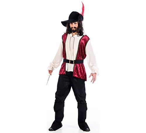 Kostüm Herren Abenteurer Mantel und Degen Kostüm 5tlg - L ()
