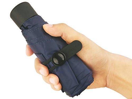 crackajack Extrem Leicht, Extrem Klein, Extrem Schutz, Extrem Cool Regenschirm, Ihr Kleiner Helfer in Dieser Saison! (C1 - Navy Blue)