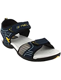 FUEL Men's Boy's Fashionable Comfortable Velcro Closure Solid Casual Floaters & Sandals