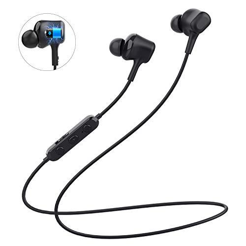 Auriculares Deportivos Bluetooth V5,0 de Langsdom, Auriculares magnéticos Deportivos con micrófono, Auriculares Deportivos para Correr/Correr (L16)