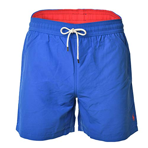 Preisvergleich Produktbild Polo Ralph Lauren Herren Badeshorts - Traveler-Swim,  Badehose,  Mesheinsatz (Blau,  XXL (XX-Large))