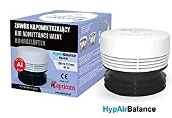 White HypAirBalance Internal Air Admittance Valve A1 Rated EN12380 Fits 70mm To 110mm Pipe