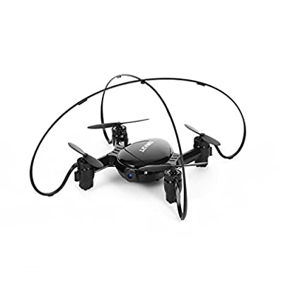 Mini RC Drone with HD Camera WIFI FPV 720P Real-time Video,FPVRC 2.4GHz RC Quadcopter Pocket Drone with Headless Mode,Altitude Hold and 3D Flips IOS/Android APP Remote Control Helicopter