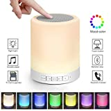 Bluetooth Speaker Light LED Portable Dimmable Smart Touch with TF Card AUX