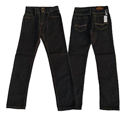 Designer Boys Jeans Adjustable Waist Trousers Black Blue Denim Wash Age 2 3 4 5 6 7 8 9 10 11 12 13 14 15 16 Years Justfound4You (Black, UK 14-15 Years (US 170))